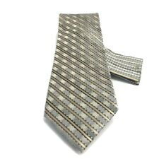 Stacy Adams Men's Tie Hanky Gray Champagne Charcoal White 100% Silk