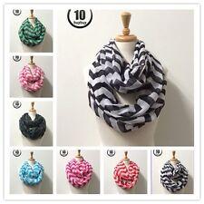 Wholesale Lots Women's12pc AssortedColor-chevron - Soft Infinity Scarves #5101