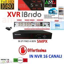 DVR NVR IBRIDO NVR HVR AHD TVI CVI 8 CH CANALI FULL HD IP CLOUD 3G WIFI 5mpx