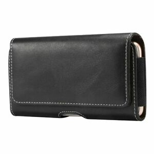 for ZTE Tempo X Holster Horizontal Leather with Belt Loop New Design