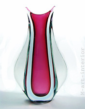 Flavio Poli Seguso Vetri D'arte vaso 32cm! VETRO SOMMERSO DESIGN ART GLASS 1950s