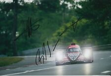 Lotterer, Jani, Senna Hand Signed Rebellion Racing 12x8 Photo 2018 Le Mans 3.