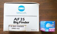 Vintage Minolta AF35 Big Finder 35mm Camera NEW IN BOX