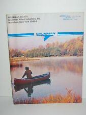 1974 Grumman Canoe Catalog Manual Brochure With 1976 Price List