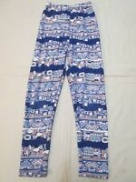LULAROE Toddler Girls Blue Pink White Leggings Size S/M