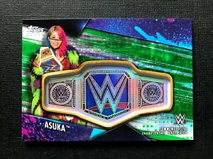 2020 Topps WWE Women's Division * ASUKA GREEN CHAMPIONSHIP PLATE PATCH /75