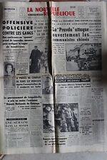LA NOUVELLE REPUBLIQUE 8 JANV 1963 - LA PRAVDA ALBANAISE BELENET KENNEDY