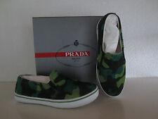 PRADA BOYS Sneakers Camouflage Grün Leder Schuhe Shoes Gr.30 Sneaker Jungen neu