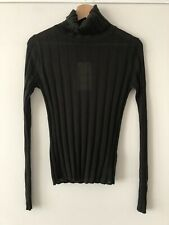 ZARA Join Life Green Khaki High Roll Neck Ribbed Knit Top Jumper Sweater S
