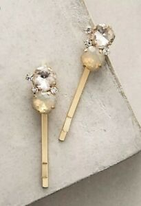 Anthropologie BHLDN Raine Bobby Pin Set Wedding Bridal Hair Accessories Pin Set