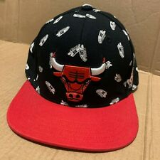 Adidas Chicago Bulls Allover Print SnapBack Superstar Flat Peak Cap NBA