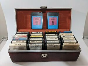 Mixed Lot 268 Track Vintage Music Blank Head Cleaner Tapes Case Untested As Is