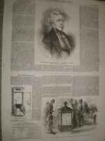 Earl of Carlisle & new Post Office letter box Fleet Street 1855 print ref AV