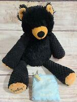 "Scentsy Buddy Plush Bramble Black Bear Stuffed Animal Eskimo Kiss Scent Pak 12"""