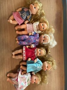 6 Vintage Barbie / Heart Family Little Girl Dolls