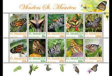Sint Maarten - Postfris/MNH - Sheet Butterflies 2017