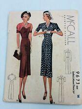 Vtg 1930's McCall       dress sewing pattern sz  14/32