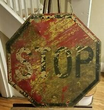 Very Cool Vintage Stop Sign! Super cool art piece! Double sided.