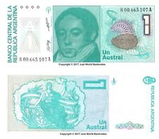 Argentina 1 Austral Replacement Banknotes ND (1985-89)  P-323r  UNC