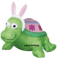 5Ft WIDE EASTER BUNNY TURTLE AIRBLOWN INFLATABLE LIGHTED YARD DECOR