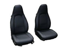 PORSCHE BOXSTER 1997-2004 BLACK VINYL CUSTOM MADE FIT FRONT SEAT COVERS