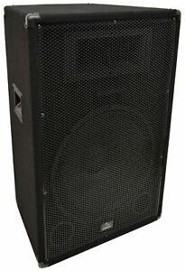 "Harmony Audio HA-V15P Pro DJ Venue 15"" Passive 900W PA Speaker 2-Way Cabinet"