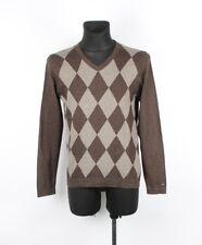 Tommy Hilfiger Premium cotone lana scollo a V uomo maglione taglia S