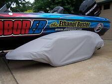 TRITON - GRY:Boat trailer fender/tire storage covers exact fit tandem fiberglass