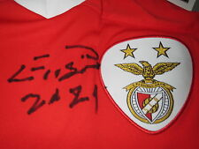 EUSÉBIO BENFICA Home Signed Shirt jersey 2011 - 2012 - 50º Years of European Cup