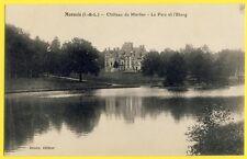 cpa 37 - MONNAIE (Indre et Loire) CHÂTEAU du MORTIER Le Parc et l'Etang