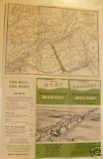 Roosevelt Bridge Map Brochure 1950s Nice! SEE!