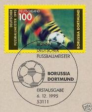 BRD 1995: dortmund fútbol maestro! nº 1833 con bonner sello especial! 1a 1510