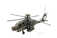 """Boeing AH-64 Apache Helicopter Metal Desk Top Model 18"""" Attack Aircraft Decor"""