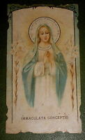 OUR LADY OF IMMACULATE CONCEPTION DIECUT HOLY CARD