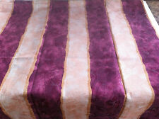 Madrid Pink Stripe Mapleleaf Tablecloth - 150 x 260cm 8-10 seater