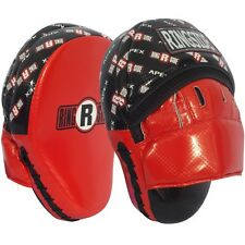 Ringside Apex Kick Boxing Kickboxing MMA Training Coaching Punch Mitts Black/Red