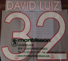 2015-16 DAVID LUIZ#32 UCL Home Shirt OFFICIAL MonBlason Name Number Set
