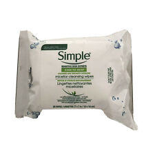 Simple Facial Micellar Cleansing And Hydrating Wipes All Skin Types 25ct