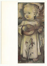 CARTE POSTALE ILLUSTRATEUR HUMMEL N° 14469 ENFANT ANGE GUITARE ABEILLE
