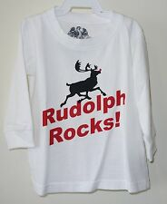 Brand New Wes and Willy Rudolph Rocks Holiday Shirt ~ Boy's Size 2T