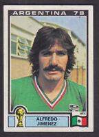 Panini - Argentina 78 World Cup - # 181 Alfredo Jimenez - Mexico