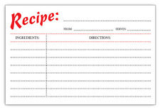 Recipe Cards Retro Style 4 x 6 inches Double Sided 40 Count by Guajolote Prints®