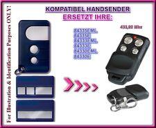 Motorlift 84330E / 84333E / 84335E kompatibel handsender, Ersatz 433,92Mhz