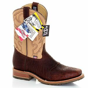 Roper Men/'s Boot Brown Ostrich Vamp Wide-Sq Toe 6500-8179 Was $370 Now $300