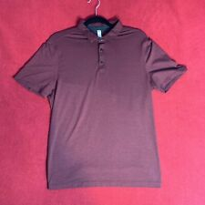 Lululemon Mens Wine Red Burgundy Polo T Shirt Top - Size Medium M