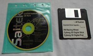Saitek Driver CD & Disc Games & Utilities Cyborg 3D R4 Racing Wheels Vintage