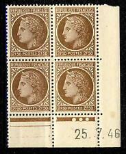 FRANCE - 1946 - N°681 2fr50 MAZELIN COIN DATÉ du 25.7.46 (3 points blancs) - TB