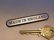 """MADE IN ENGLAND Ovoid Self Adhesive Classic British Motorcycle Car Bike BADGE 3"""""""