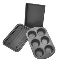 NEW Chicago Metallic Professional 4 Piece Non Stick Toaster Oven Bakeware Set