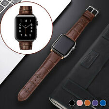 For Apple Watch Strap Series SE 6 5 4 Genuine Leather 38/40/42/44mm iWatch Band